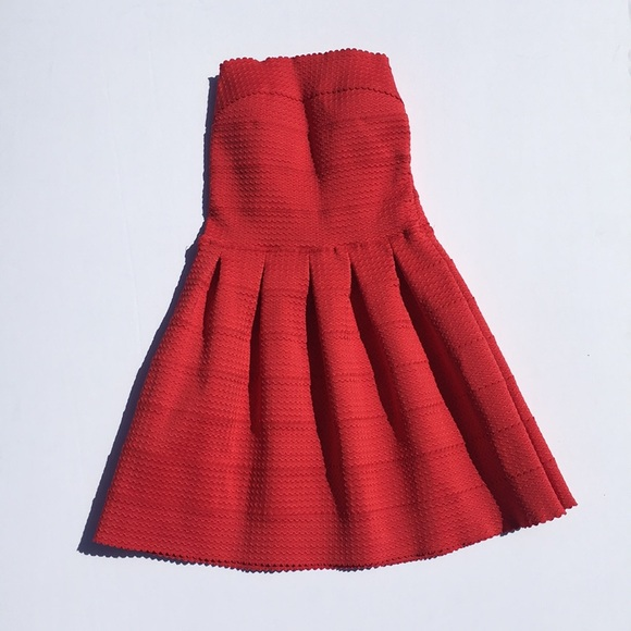 WOW couture Dresses & Skirts - Wow Couture Red Strapless Bandage Dress